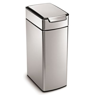 Simplehuman® Slim Brushed Stainless Steel 40 Liter Touch Bar Trash Can