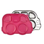 Innobaby Din Din SMART™ Stainless Bus Platter with Sectional Lid in Pink