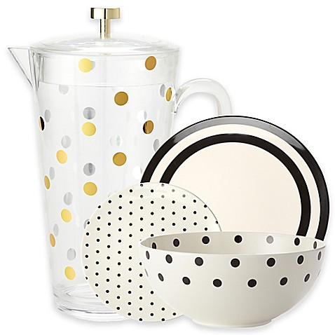 Kate Spade New York Raise A Glass Melamine Dinnerware And