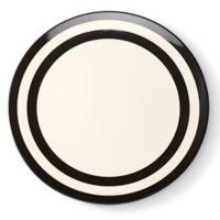 kate spade new york Raise a Glass Dinner Plate in White/Black Stripe