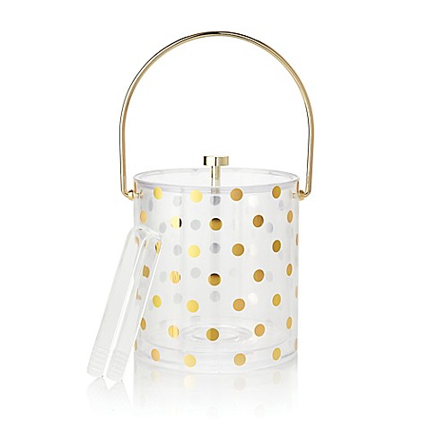 Kate spade new york raise a glass acrylic ice bucket and for Bed bath and beyond kate spade