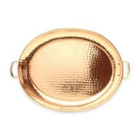 Old Dutch International 15-Inch x 11-Inch Hammered Oval Copper-Plated Tray
