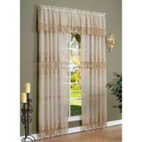 Commonwealth Home Fashions Anna Maria 72-Inch Window Curtain Panel in Mushroom