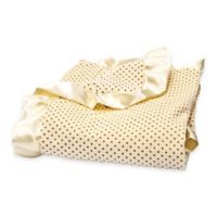 Trend Lab® Buttercup Zigzag Yellow Dot with Satin Ruffle Receiving Blanket