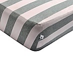 Burt's Bees Baby® Bee Essentials Wide Stripe Organic Cotton Fitted Crib Sheet in Blossom