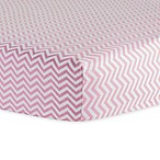 Trend Lab® Chevron Flannel Fitted Crib Sheet in Pink