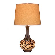 buy fangio lighting 24 inch table lamp in brown with oil kraft paper. Black Bedroom Furniture Sets. Home Design Ideas