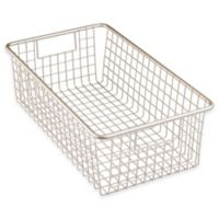 InterDesign® Forma™ Cabinet Binz™ 16-Inch x 9-Inch x 5-Inch Metal Bin