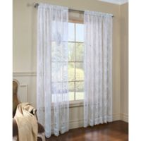 Commonwealth Home Fashions Mona Lisa 72-Inch Window Curtain Panel in White