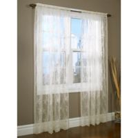 Commonwealth Home Fashions Mona Lisa 63-Inch Window Curtain Panel in Shell