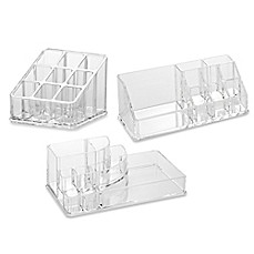 Home Basics Cosmetic Organizers In Clear Bed Bath Amp Beyond