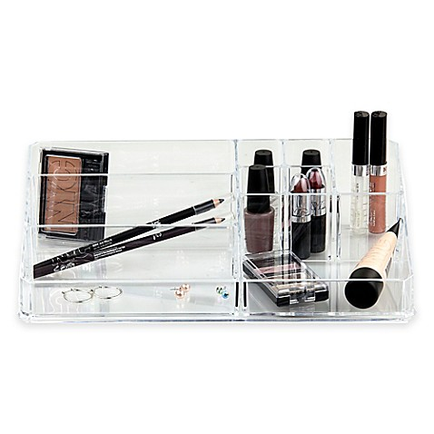Home Basics® Extra-Large Cosmetic Organizer in Clear