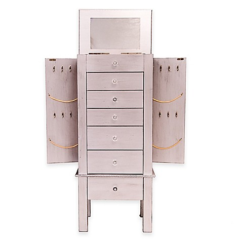 Hannah Jewelry Armoire In Silver Leaf Bed Bath Amp Beyond