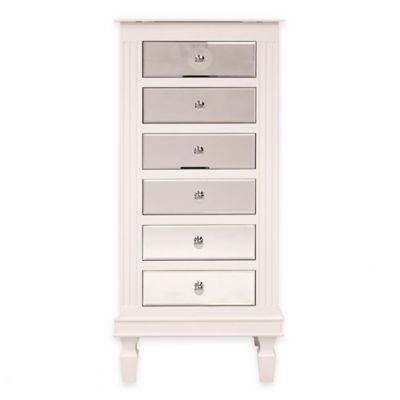 Bon Ava Jewelry Armoire In White