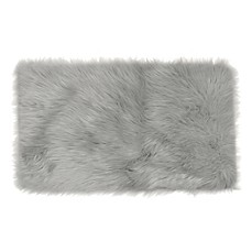 frost faux fur decorative rug - Faux Fur Rugs