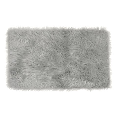 Frost Faux Fur Decorative Rug Bed Bath Amp Beyond