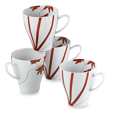 Mikasa® 12-Ounce Mugs in Pure Red (Set of 4)