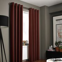 Kenneth Cole Reaction Home Gotham Texture 108-Inch Lined Grommet Window Curtain Panel in Garnet