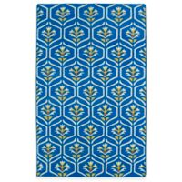 Kaleen Glam Floral 5-Foot x 8-Foot Area Rug in Blue