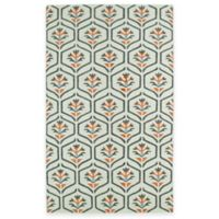 Kaleen Glam Floral 8-Foot x 10-Foot Area Rug in Coral
