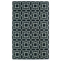 Kaleen Glam Tiles 5-Foot x 8-Foot Area Rug in Charcoal