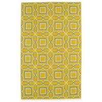 Kaleen Glam Tiles 5-Foot x 8-Foot Area Rug in Yellow
