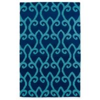 Kaleen Glam Fret 2-Foot x 3-Foot Accent Rug in Blue