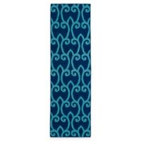 Kaleen Glam Fret 2-Foot 6-Inch x 8 Foot Runner in Blue
