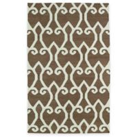 Kaleen Glam Fret 3-Foot 6-Inch x 5-Foot 6-Inch Area Rug in Brown