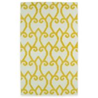 Kaleen Glam Fret 3-Foot 6-Inch x 5-Foot 6-Inch Area Rug in Yellow