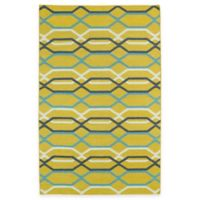 Kaleen Glam Links 3-Foot 6-Inch x 5-Foot 6-Inch Area Rug in Yellow