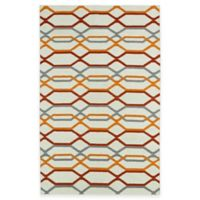 Kaleen Glam Links 5-Foot x 8-Foot Area Rug in Ivory
