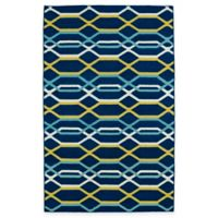 Kaleen Glam Links 8-Foot x 10-Foot Area Rug in Navy