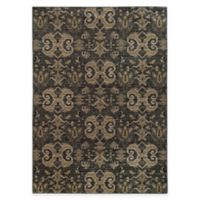 Oriental Weavers Heritage Scroll 3-Foot 10-Inch x 5-Foot 5-Inch Area Rug in Blue/Gold