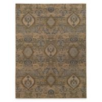 Oriental Weavers Heritage Floral Ikat 6-Foot 7-Inch x 9-Foot 6-Inch Area Rug in Ivory/Blue