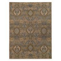 Oriental Weavers Heritage Floral Ikat 9-Foot 10-Inch x 12-Foot 10-Inch Area Rug in Ivory/Blue