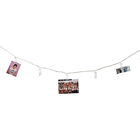 Clothespins 16 Led String Lights Www Bedbathandbeyond Com