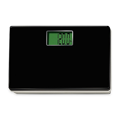 Digital Talking Regular Size Bathroom Scale In Black Bed