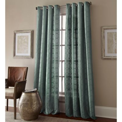 Manhattan 63 Inch Grommet Top Window Curtain Panel In Blue