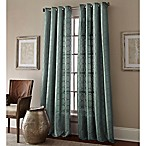 Manhattan 84-Inch Grommet Top Embroidered Window Curtain Panel in Blue