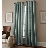Manhattan 120-Inch Grommet Top Window Curtain Panel in Blue
