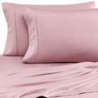 Eucalyptus Origins™ Tencel® Lyocell King Pillowcases in Mauve Stripe (Set of 2)
