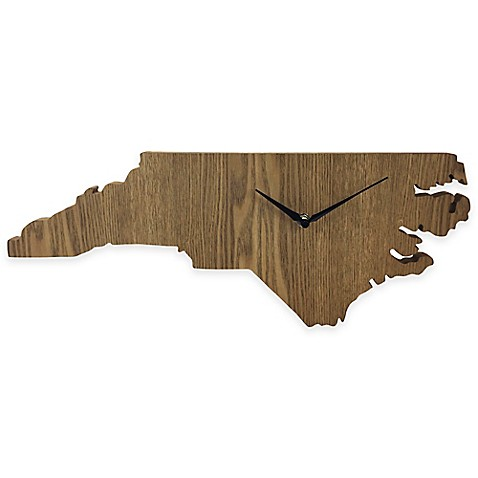 North Carolina State Wood Grain Wall Clock Bed Bath Amp Beyond