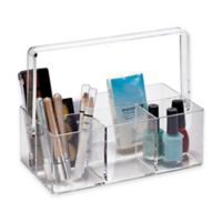 Cosmetic Holder with Carry Handle in Clear