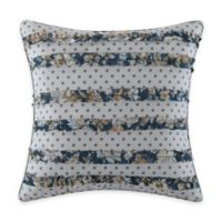 Salisbury Square Throw Pillow in Blue