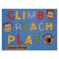 Fun Rugs Curious George Climb, Reach, Play 1-Foot 7-Inch x 2-Foot 5-Inch Accent Rug
