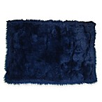 Fun Rugs® Flokati 2-Foot x 3-Foot Shag Rug in Dark Blue