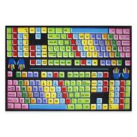 Fun Rugs® Keyboard 5-Foot 3-Inch x 7-Foot 6-Inch Area Rug