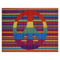 Fun Rugs Groovy Peace 3-Foot 3-Inch x 4-Foot 10-Inch Accent Rug