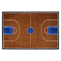 Fun Rugs™ Basketball Court 2-Foot 7-Inch x 3-Foot 11-Inch Accent Rug